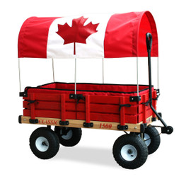 Deluxe Classic Red Wooden Wagon by Millside Industries - Ships in Canada Only