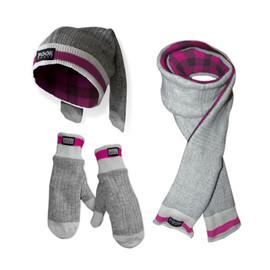 Toque / Scarf / Mitten Set (Pink Plaid) Pink Plaid by Pook