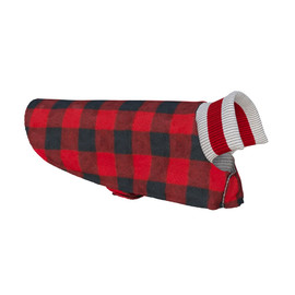 Fleece / Wool Dog Coat (Red Plaid Reversible) by Pook