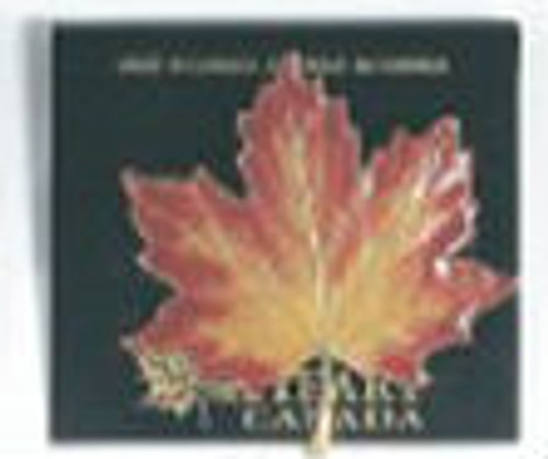 Canada True Enamelled Maple Leaf Broach - Large Autumn Leaf