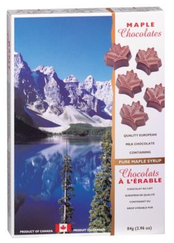 Canada True Maple Solid Chocolates - Canada (2 Pack of 84 g)