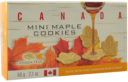 Canada True Mini Maple Cookies (3 Pack of 60 g)