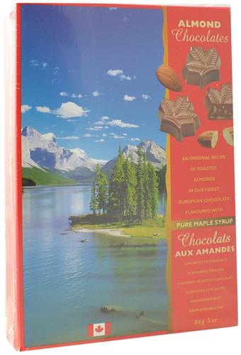 Canada True Maple Almond Chocolates (3 Pack of 84 g)