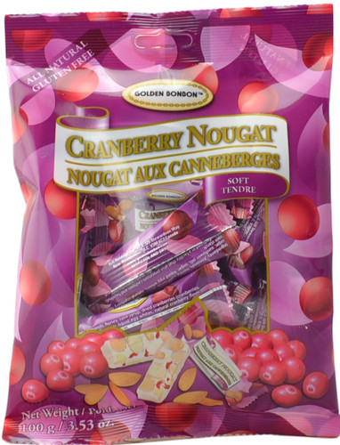 Canada True Cranberry Nougat - Soft (3 Pack of 100 g)
