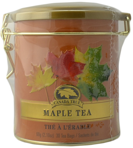 Canada True Maple Tea - Clasp Tin (3 Pack of 30 Bags)
