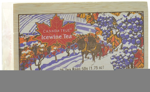 Canada True Icewine Tea - Scenic Wood Box (3 Pack of 25 Bags)