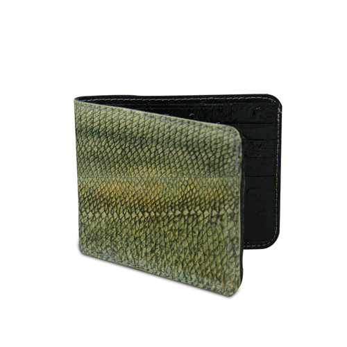 Grey Walleye Wallet by Big Eye Leather
