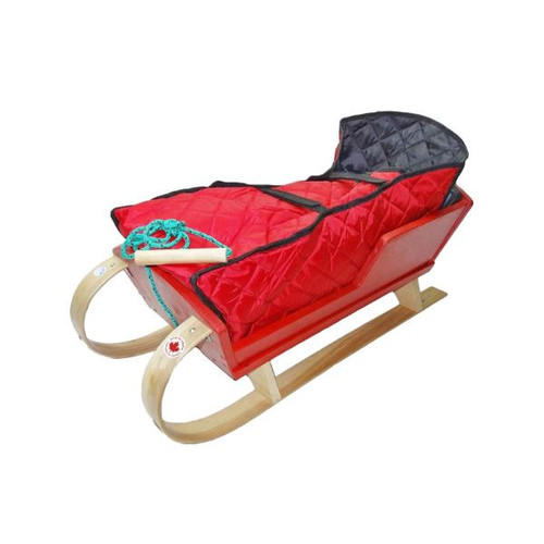 Alpine Wooden Cutter Sleigh by Streamridge - Ships in Canada Only