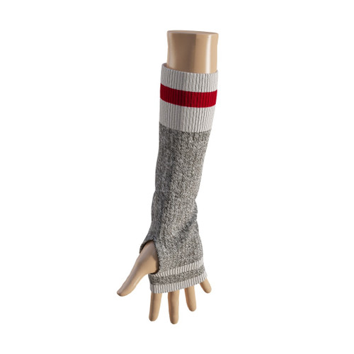 Elbow Highs (Grey / Red Trim) Red Trim by Pook