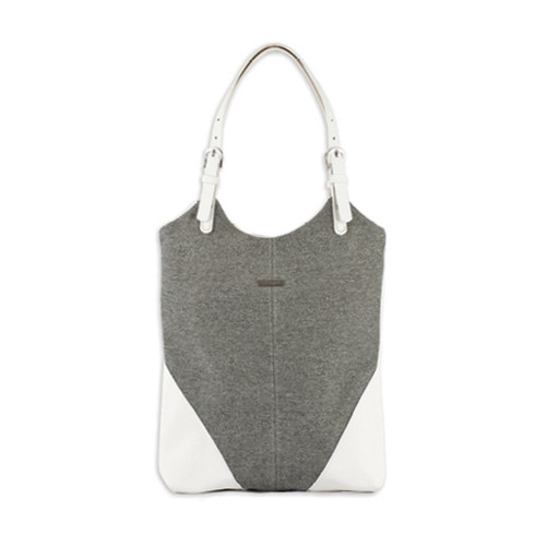 Dallas Tote Bag (Grey / White) by Taska