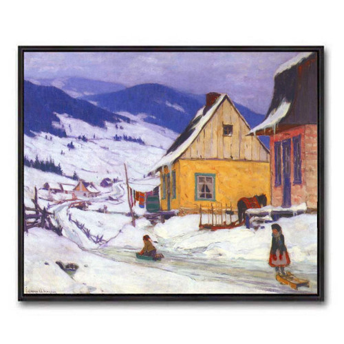 The Yellow House (Group Of Seven) by Clarence Gagnon