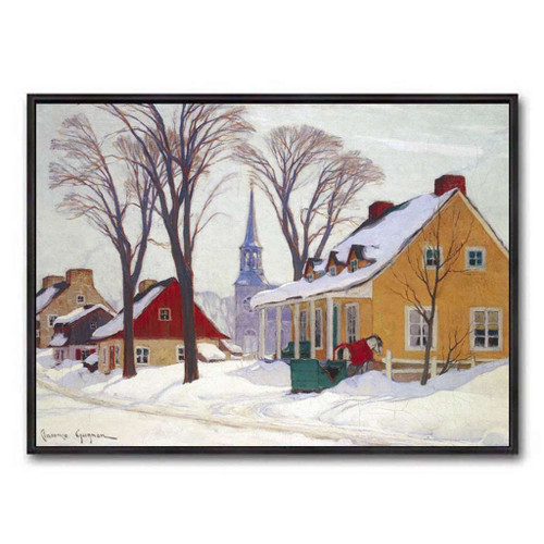 Winter Morning In Baie-St-Paul (Group Of Seven) by Clarence Gagnon
