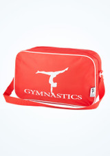 Tappers and Pointers Gymnastics Bag Red front. [Red]