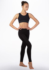 Capezio V Back Dance Crop Top Black front. [Black]