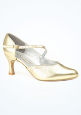 Dancesteps Foxtrot  Dance Shoe 2.5 Gold. [Gold]""