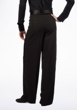 Move Gabriel Men's Ballroom Trousers Black #2. [Black]