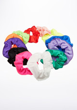 Tappers & Pointers Shiny Lycra Hair Scrunchie Red main image. [Red]