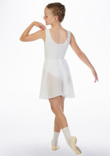 Move Heidi Pull-On Dance Skirt White back. [White]