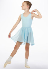 Move Heidi Pull-On Dance Skirt Blue front. [Blue]