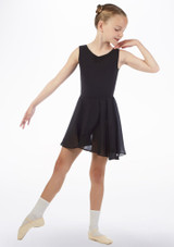 Move Heidi Pull-On Dance Skirt Black front. [Black]