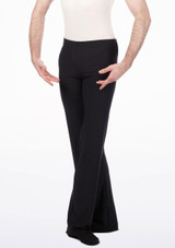 Move Men's Jazz Pants Black front. [Black]