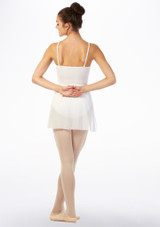 Move Tilly Midi Wrap Dance Skirt White back. [White]