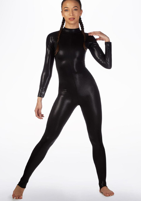 Alegra Metallic Aspen Catsuit Black main image. [Black]
