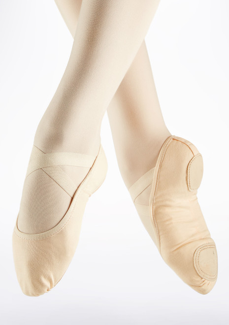 So Danca Superpro Split Sole Ballet Shoe Pink front. [Pink]