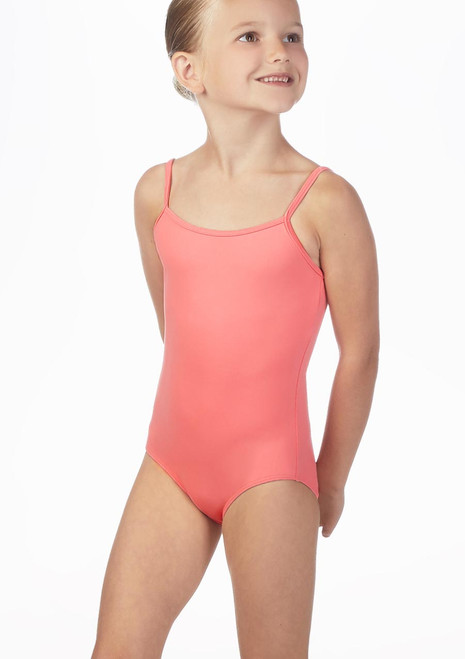 Bloch Girls Parem Camisole Leotard Blue front. [Blue]
