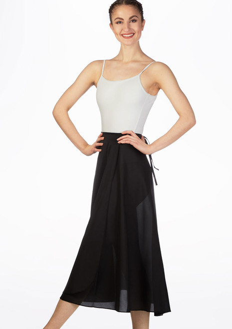 Grishko Long Ballet Skirt Black front. [Black]