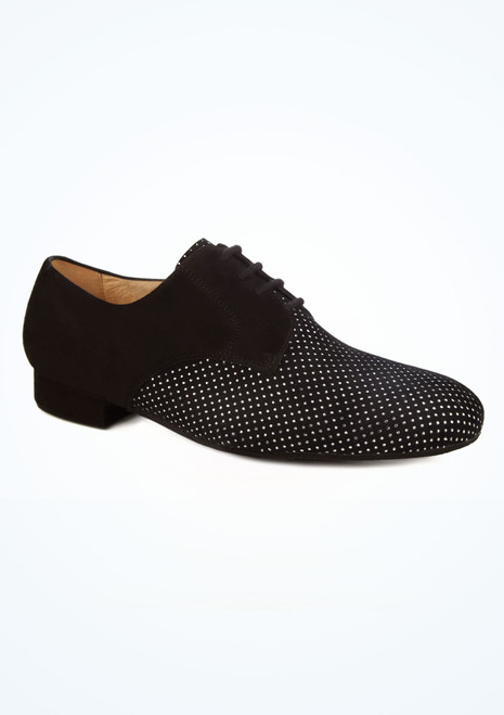 Ray Rose Ebony Spangled Suede Ballroom Shoe Black main image. [Black]