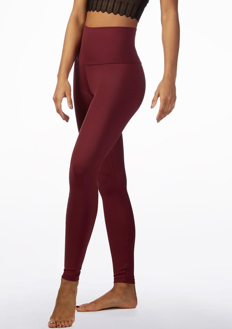 So Danca High Waist Dance Leggings Red front.