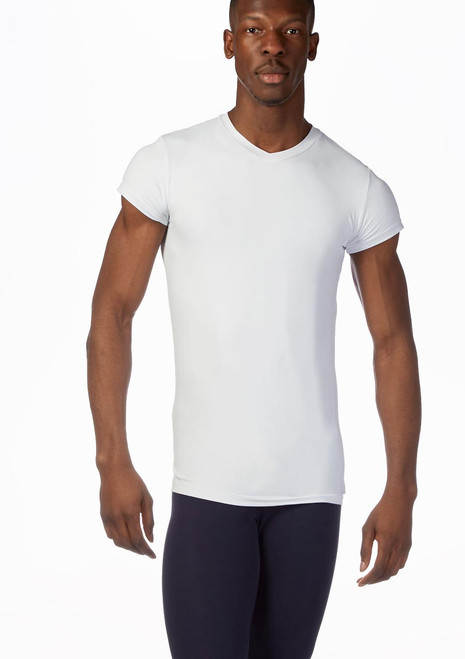 So Danca Mens V-Neck T-Shirt White front. [White]
