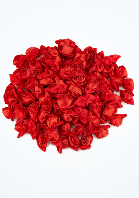 Large Satin Rose 100 Pieces Red front. [Red]