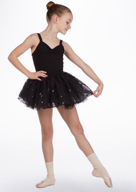 Bloch Kai Girls Tutu Skirt Black front. [Black]