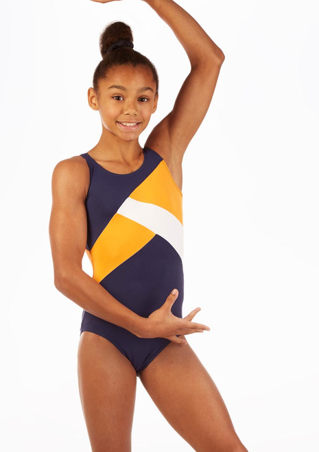 So Danca Salus Gymnastics Leotard Blue front. [Blue]