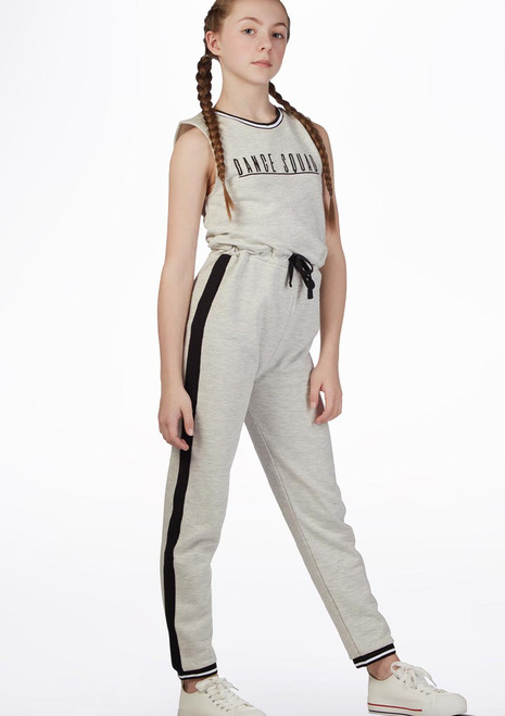 Move Dance Squad Jumpsuit Grey front. [Grey]