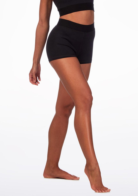 Move Dance Short Black front. [Black]