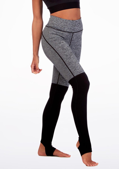 Move Two-Tone Dance Leggings Black front. [Black]