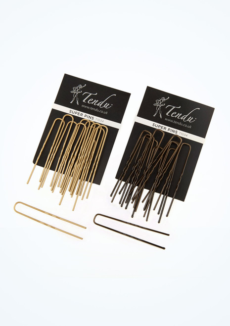 Tendu Super Hair Pins Black main image. [Black]