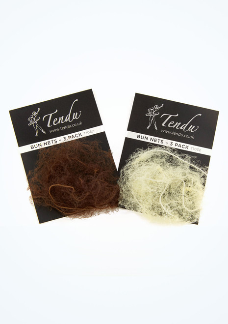 Tendu Bun Nets Pack of 3 Black main image. [Black]