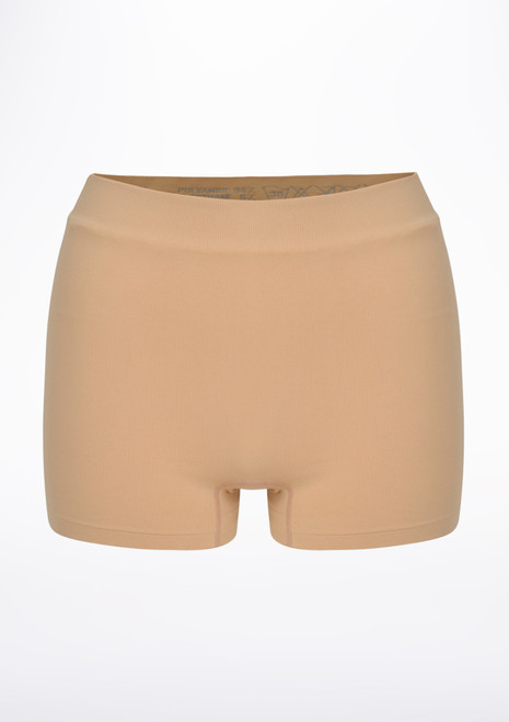 Repetto Seamless Dance Shorts Tan front. [Tan]