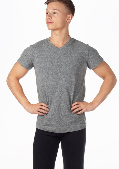 Intermezzo Camnoipic Mens Dance Top Grey. [Grey]
