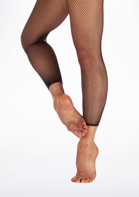 Capezio Crop Studio Fishnet Dance Tights Black. [Black]