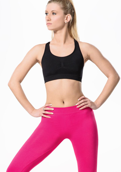 Move Rufina Seamless Bra Top Pink front. [Pink]