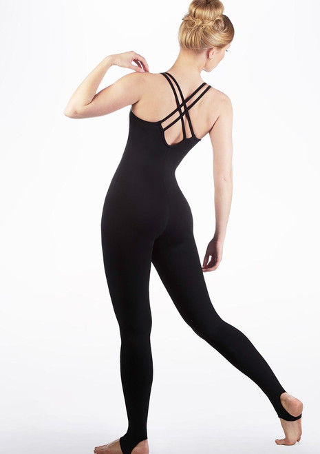 Intermezzo Cross Back Unitard Black back. [Black]