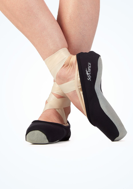 So Danca Pointe Shoe Covers Black main image. [Black]