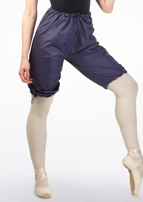Grishko Sweat Warm Up Shorts Blue front. [Blue]