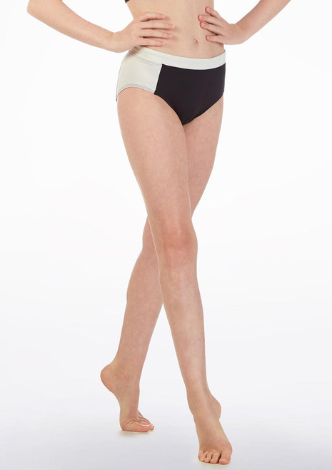 Bloch Teen Two Tone Dance Brief* Black front. [Black]