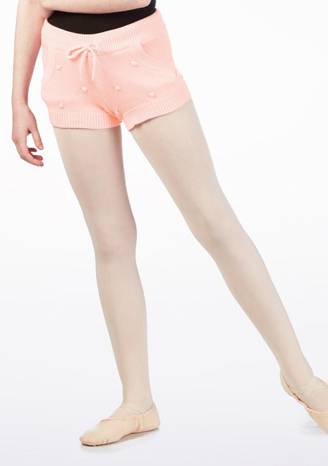 Bloch Bubble Knit Warm Up Shorts* Pink. [Pink]